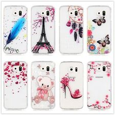 New For Mobile Phones Slim HD Patterned Silicone Clear Soft TPU Back Cover Case