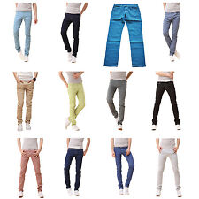 Mens Stylish Candy Pants Casual Skinny Slim Elasticity Pants Jeans Trousers L3