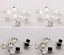 400pcs Cord Crimp End Accessories For Jewelry Bead Cap Fold Over 2016 6/9mm