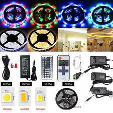 5M SMD RGB 5050 300LEDs 3528 Cool/Warm White 5630 Waterproof Strip Light