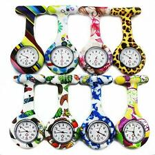Cute Silicone Nurse Watch Brooch Fob Pocket Tunic Quartz Movement Watch UK