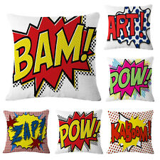 Colorful Letters Pattern Throw Pillow Case Decorative Cushion Cover Sham