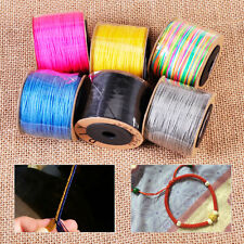 0.8mm 100M Nylon Chinese Knot Cord Rattail Macrame Beading Braided String Thread