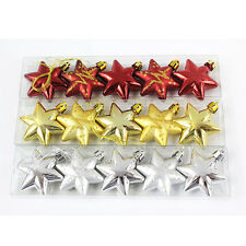 Christmas Tree Stars Decorations Baubles Xmas Party Wedding Ornament Gift FG