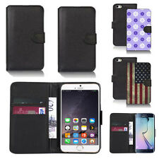 pu leather wallet case cover for many mobiles design ref q110
