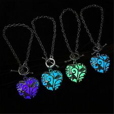 Glow in The Dark Women's Heart of The Ocean Pendant Bracelet Chains Jewelry Gift