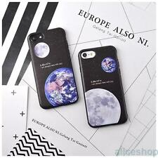 Stylish Universe Earth Moon Soft Candy Case Cover for iPhone 7 7 Plus 6 6S Plus
