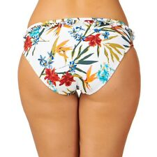 Audelle Lepel Tropical Fever Mid rise Hipster Bikini Brief Pant White Floral 16