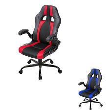 Merax Ergonomic Racing Style Office Gaming Chair  PU Leather Mesh Computer Desk