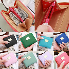 Fashion Women Leather Small Wallet Card Holder Zip Coin Purse Clutch Handbag HOT