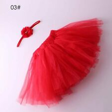 Cute Tutu Skirt Photo Prop Infant Clothes + Girl Baby Newborn Flower Hair Band J