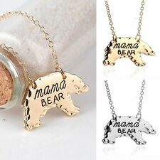 Sell Animal Gift Mother's Day Jewelry Alloy Chain Mama Bear Pendant Necklace