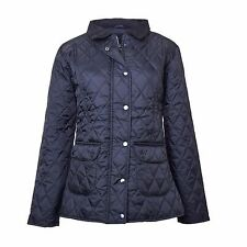 Ladies Smart Quality Puffer Quilted Padded Warm Thick Bomber Jacket Coat - BLACK