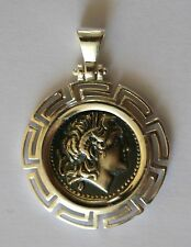 ALEXANDER THE GREAT GREEK COIN MEDIUM SIZE sterling silver 925 code 31