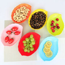 Plastic leaf shape compartment tray candy dish fruit plate table decoration