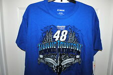 JIMMIE JOHNSON #48 OFFICIAL LICENSED NASCAR T-SHIRT BLUE SIZES MED LG. OR XL NWT