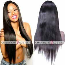 Women's Indian Remy Human Hair Lace Front/Full Lace Wigs Silky Straight Lace Wig