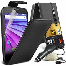 Top Flip Quality PU Leather Phone Case Skin Cover+In Car Charger for Samsung