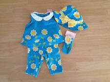 NWT Gymboree Daisy Giraffe Girls 0-3mo Summer Outfit Top Pant Hat Sock 5pc SET
