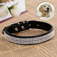 Rhinestone Collar Fashion Pu Leather Collars For Small Dogs Pet Supplies 10Color
