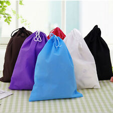 Portable Shoes Bag Travel Storage Pouch Drawstring Dust Bags Non-woven EF