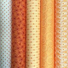 BASICALLY HUGS Collection in ORANGE ~  Red Rooster 100% quilting cotton fabrics
