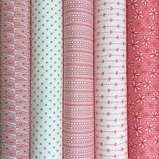 BASICALLY HUGS Collection in PINK ~  Red Rooster 100% quilting cotton fabrics