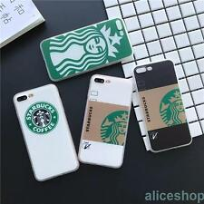 Trendy Starbucks Coffe Mug Cup Coffe Girl TPU Case Cover for iPhone X 8 Plus 6S