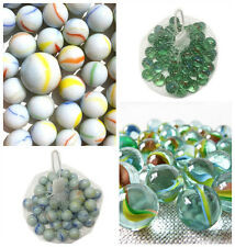 Glass Marbles Tricolour Milky Marbles - Cat's Eye Marbles Pack of 50 - 500 Gift
