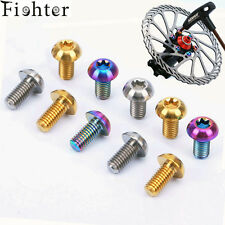 6pcs M5x10mm Titanium Ti Mountain Cycling Bike Disc Rotor Bolts Torx T25