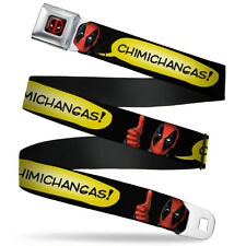 Deadpool Marvel Comics Antihero Chimichangas Seatbelt Belt