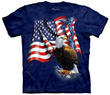 American Bald Eagle Stripes And Stars Adult T-Shirt Tee