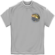 Wicked Fish Large Mouth Bass With Popper Jumping Frog Adult Graphic T-Shirt Tee