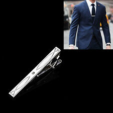 Formal Men's Metal Fashion Silver Color Simple Necktie Tie Pin Bar Clasp Clip