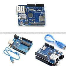 UNO R3 Board+Ethernet Shield W5100 SD Slot Expansion Board USB CableFor Arduino
