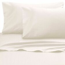 Wamsutta® Ultra Soft Sateen 525-Thread-Count Twin Flat Sheet in Ivory Stripe
