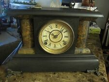 E.N. Welch Antique 8-DAY, Half & Hour Strike Gong Cathedral Clock Circa 1880-90s