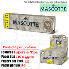 Mascotte Combi 100% Organic Hemp Kingsize Slim Papers + Flex Filter Roach Tips