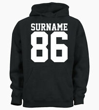 Personalised Surname Age Year Customised Ladies Hoody Mens Hoodie Top
