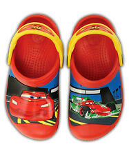 New Crocs Cars Lightning McQueen & Francesco Clog Boys Shoes 6/7 10/11 12/13 J1