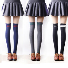 Elastic Cotton Over Knee High Stockings Cylinder College Wind Thigh High Socks