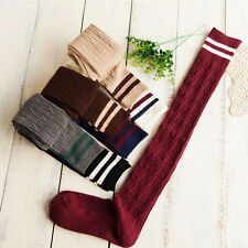 Fashion Cotton Over Knee High Stockings Cylinder College Wind Thigh High Socks