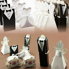 50/100/200 Wedding Favor Candy Boxes Bridal Groom Boxes Tuxedo Party Gift Bag