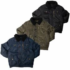 Kangol Boys Winter Coat Bomber Jacket Shearling Collar Outerwear Size 4-10 Years