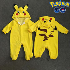Pokemon Pikachu Baby Toddler Infant One Piece Romper Playsuit Jumpsuit Outfits