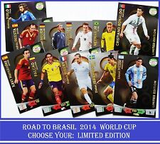 Adrenalyn XL ROAD TO BRAZIL WORLD CUP 2014 LIMITED EDITION Cards Panini