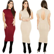 Women Sexy Sleeveless Backless Solid Bodycon Clubwear Party Evening Mini Dress