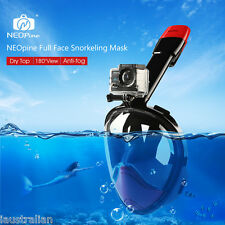 NEOpine Snorkeling Mask Scuba Water Sports Anti-fog Diving Swimming Goggle