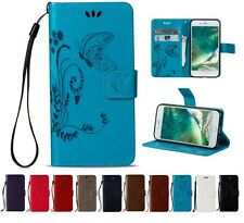 Magnetic Wallet Card Lot Stand Flip PU Leather Cover 3D Butterfly LD-HD- Case