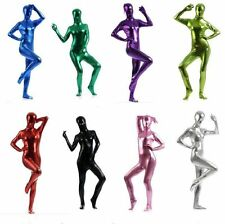 New Style Metallic Lycra Spandex Halloween Party Zentai Costume Catsuit S-XXL